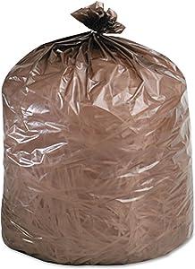 Stout G3036B80 Eco-Degradable Plastic Trash Bag 20-30gal .8mil 30 x 36 Brown 60/Box