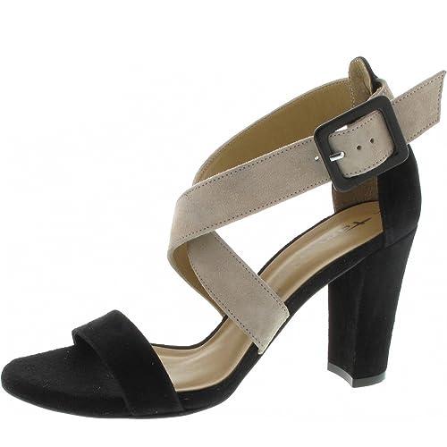 Tamaris Sandalette schwarz Kombi: : Schuhe