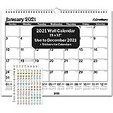 "CRANBURY Wall Calendar 2021 15x12"" - (Black), Wall Calendar 2021, Use Now to December 2021, for Full Calendar Year 2021, Incl"