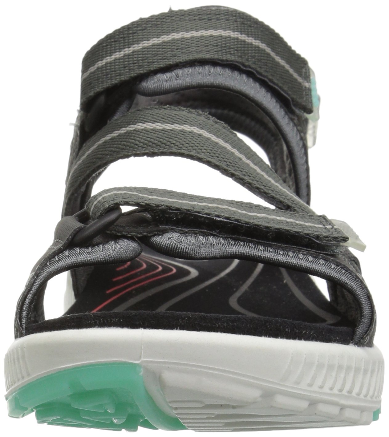 ECCO Women's Terra 3S Athletic Sandal B072F26DNQ 41 EU/10-10.5 M US|Dark Shadow/Emerald