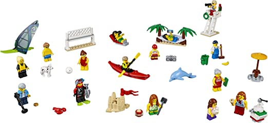 LEGO CITY VELA IN GIALLO//ROSSO con iscrizioni di plastica