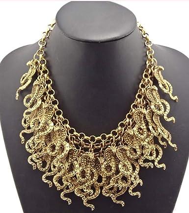 Serpent Chocker Necklace Rhinestone Clustered