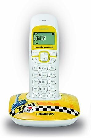 Logicom SOLY_150_SOLO_NY - Teléfono fijo inalámbrico no ISDN, diseño de taxi de Nueva York, color amarillo y blanco [Importado de Francia]: Amazon.es: Electrónica