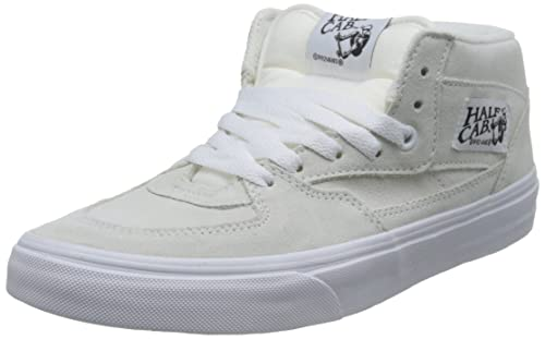 a35c3e5b80 Vans Unisex Half Cab (Suede) White and True White Leather Sneakers - 7 UK