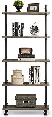 Deal of the week: Ivinta Industrial Bookshelf Rustic Bookcase