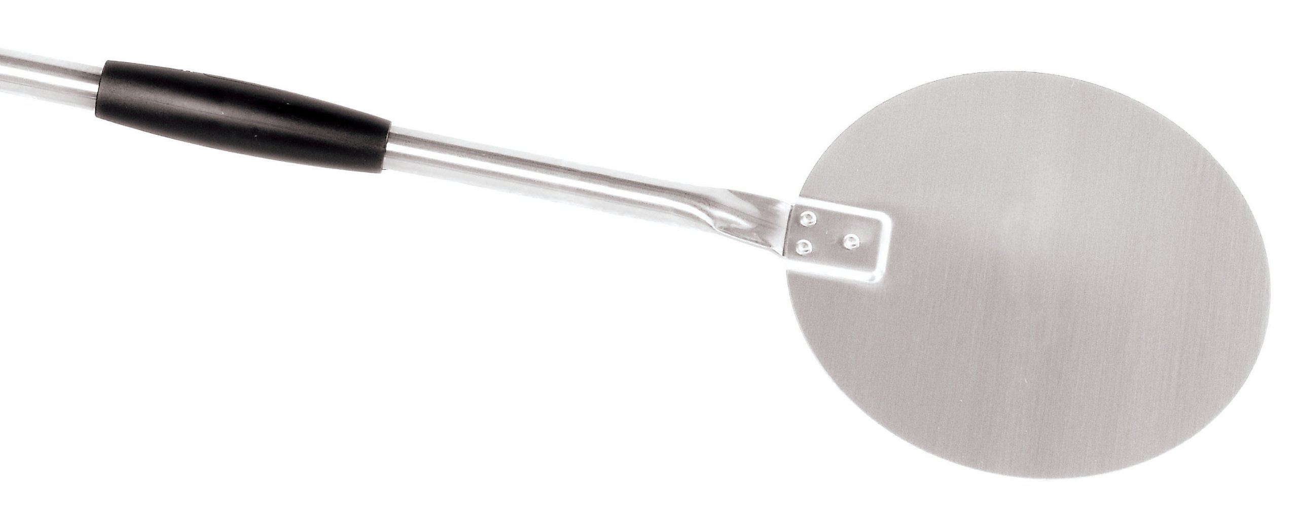 Paderno World Cuisine 9-Inch Diameter Plain Stainless-Steel Pizza Peel, 59-Inch Long Handle