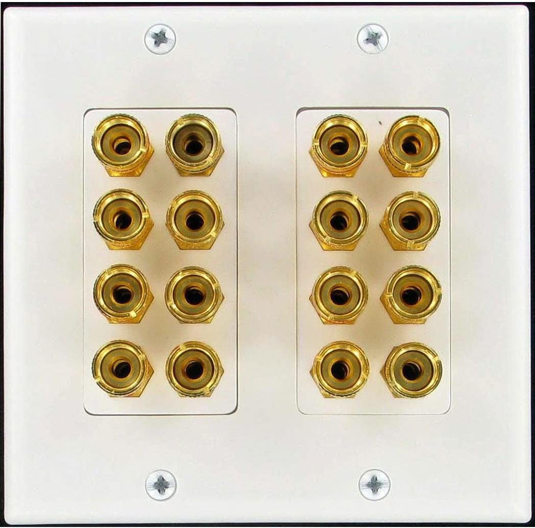 HdtvHookup 16 Post 8 speaker Wall Plate