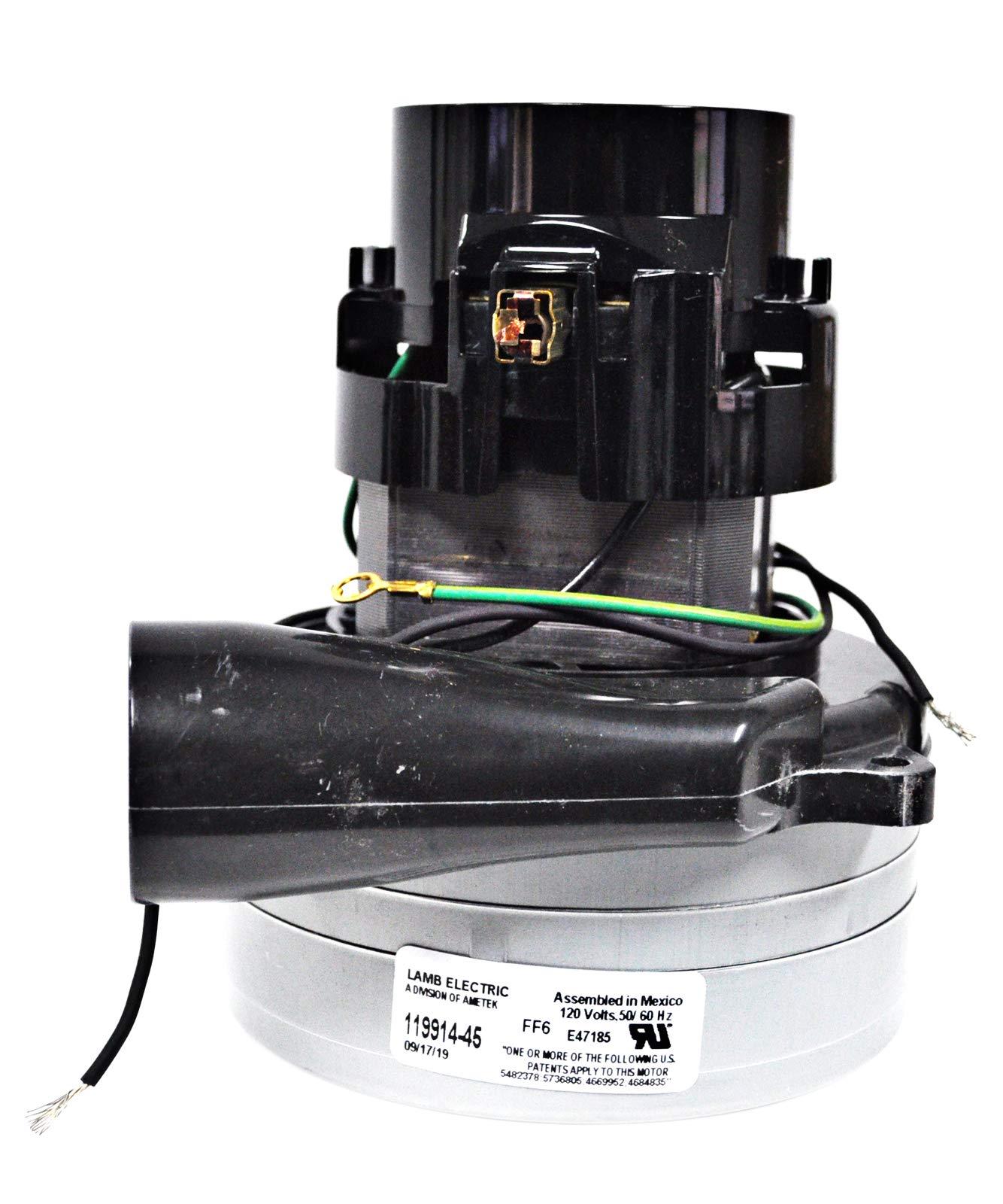 Ametek Lamb 5.7 Inch 2 Stage 120 Volt Tangential Bypass Acustek Vacuum Motor 119914-45 by Ametek