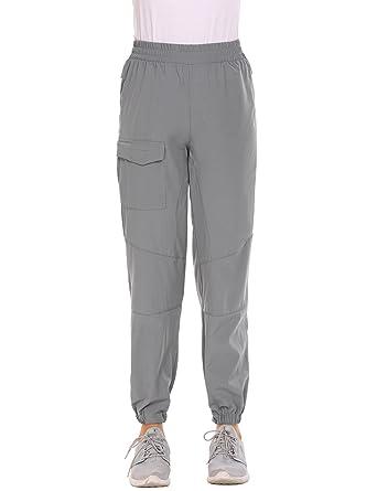 16ee8bf6fdb Zeagoo Womens Winter Outdoor Quick Dry Hiking Trail Elastic Waist Pull on Sports  Pants