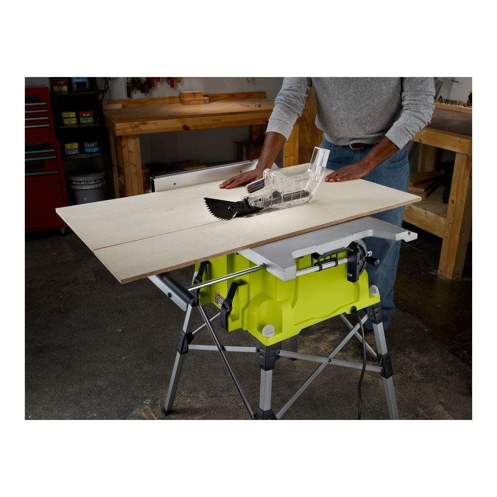 Ryobi RTS21G 10 in. Portable Table Saw with Quick Stand Green ...