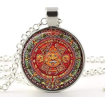 Nueva CollarPiedra Colgante Moda Sol AztecaAztecas Calendario De JTl3FK1cu