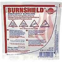 "Burnshield Premium Sterile Emergency Burn Dressing 4""x4"" (10cm x 10cm)""Cools The Burn"""