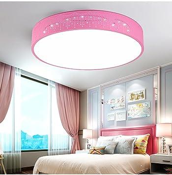 Waineg Lámpara infantil Lámpara de techo LED para niños y niñas y luz espacial de bienvenida Energy Light star Moon Eye Care Rosa claro (300mm) luz ...