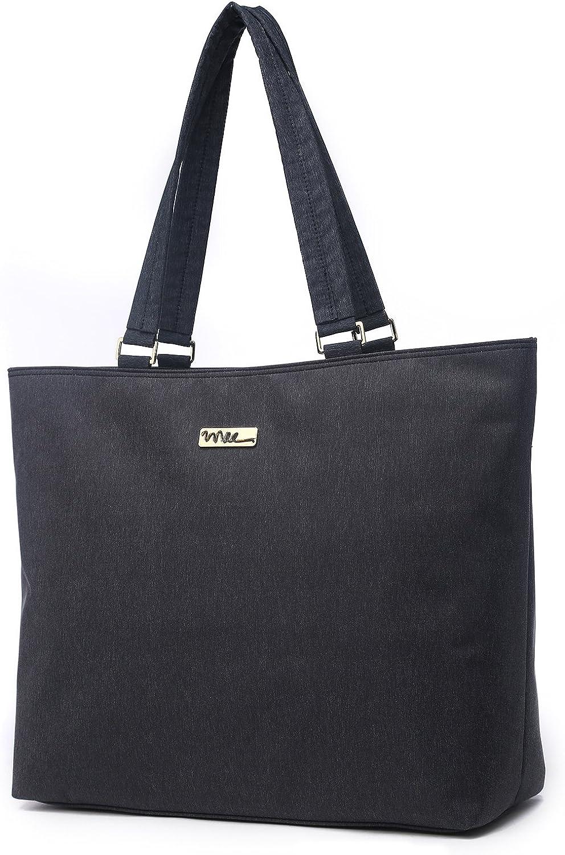 NNEE Water Resistance Nylon Laptop Tote Bag Computer Travel Carrying Bag