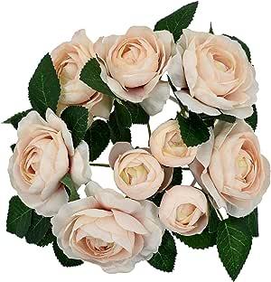 زهور زهور من الحرير الجميلة نباتات صناعية هدية لتزيين حفلات أعياد الميلاد وحفلات الزفاف