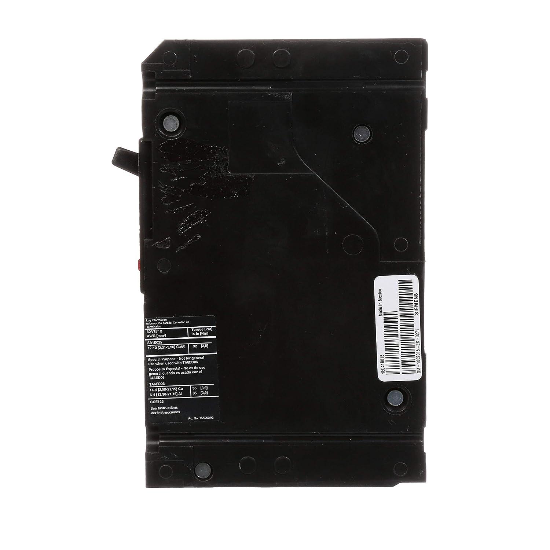 15 Amp Type HED4 1 Pole Siemens -HI Siemens HED41B015 Circuit Breaker