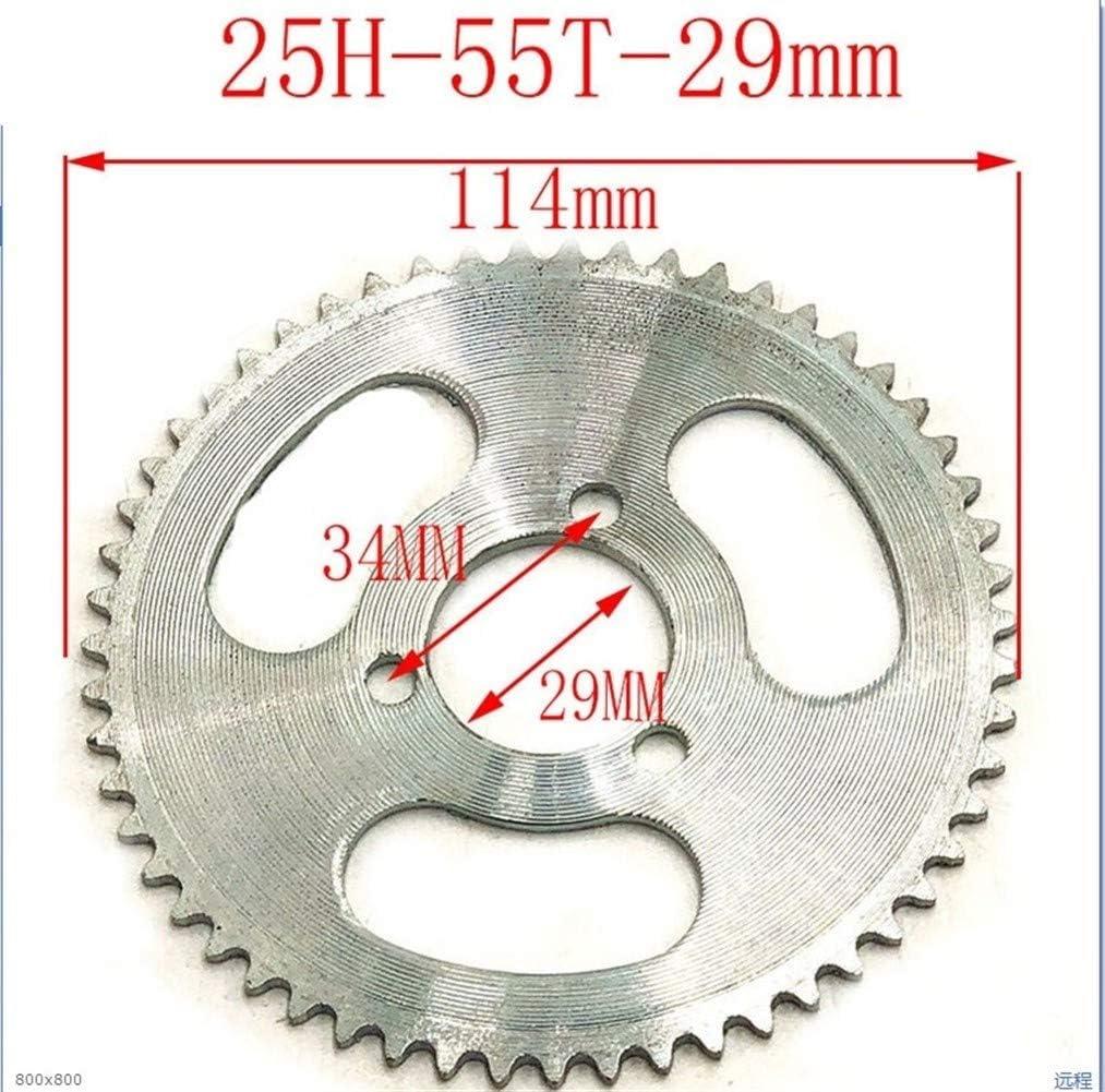 NO LOGO LM-CDL 55mm hinten Ritzel for 47cc 49CC Mini Moto ATV Quad Dirt Pit Pocket Bike Size : 25H 92T 29MM 25H 55t 65t 68t 70t 80t 92t Tooth 29//54