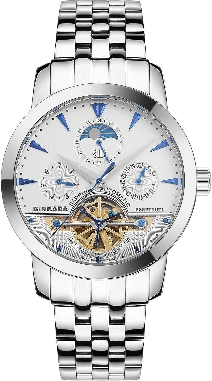 BINKADA オートマチック機械式 ホワイトダイアル メンズウォッチ #705601-1 B00Y63BEUM
