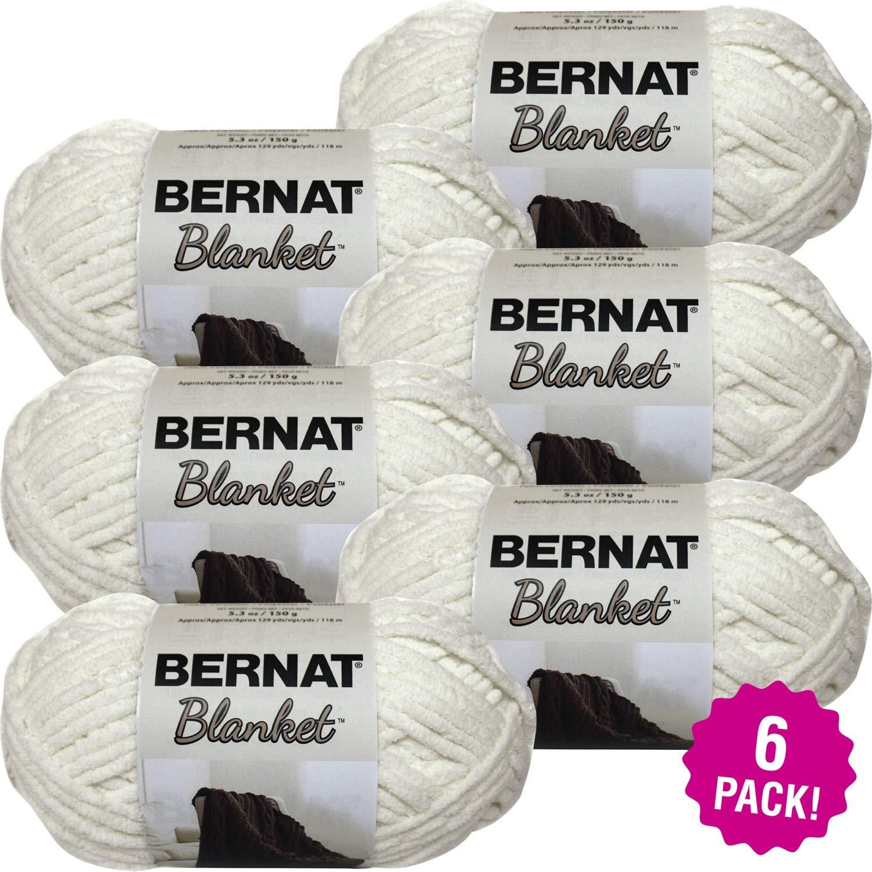 Bernat 99324 Blanket Yarn-6/Pk-Vintage, 6/Pk Vintage White 6 Pack