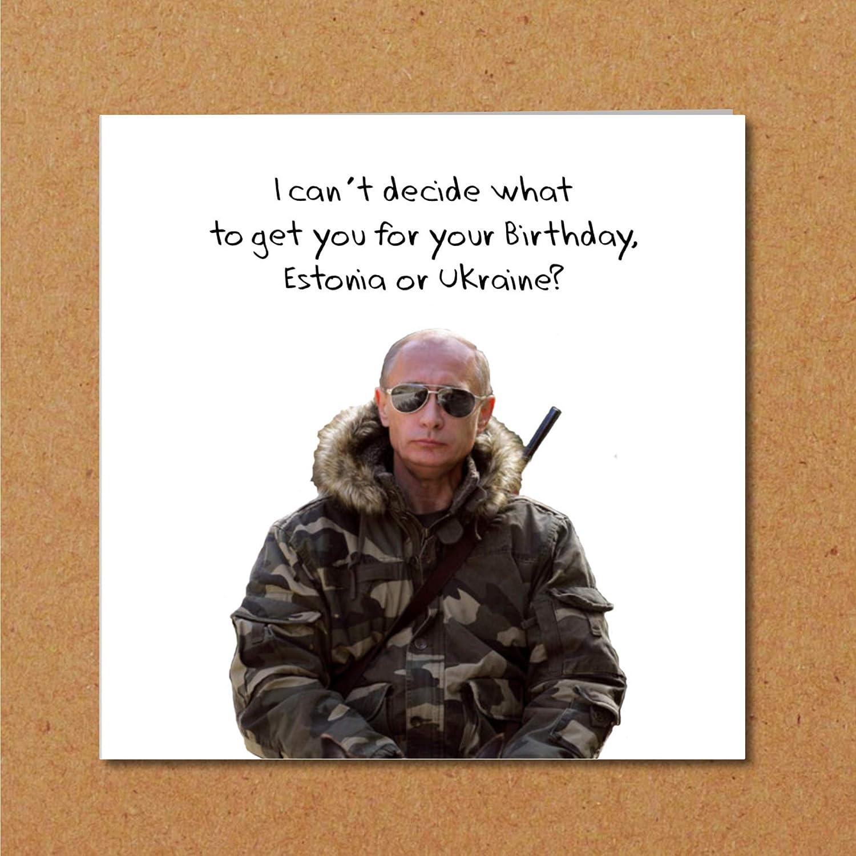 Vladimir Putin Birthday Card Make America Great Again Theme Funny Humorous And Amusing Cartoon Quotation Quote Amazon Co Uk Handmade