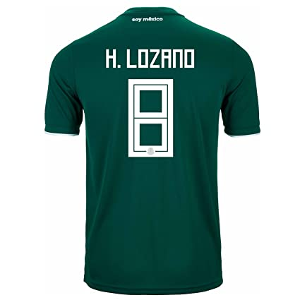 finest selection ceea8 6f52b Amazon.com : adidas H. Lozano # 8 Mexico Home Soccer Stadium ...