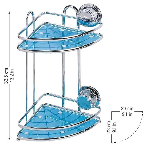 tatkraft conrad eckregal 2 etagen ablage dusche rostfrei stahl verchromt befestigung ohne bohren - Seifenablage Dusche Ohne Bohren