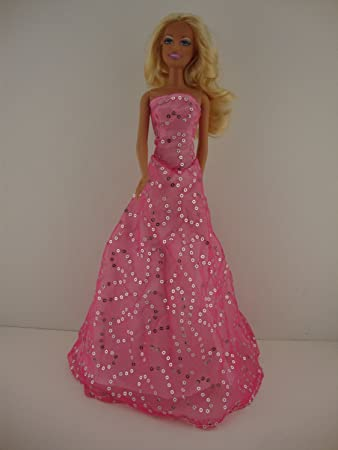 a5aaffe4f6 Amazon.com: Light Pink Dress with Lots of Sparkle Made to Fit Barbie ...