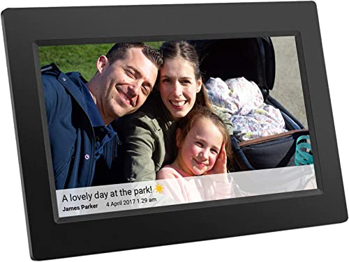 Feelcare Digital WiFi Picture Frame 10 inch, Upload Photos or Videos Remotely from Smartphone to Frame with Free Frameo App, IPS 800×1280,Touchscreen for Easy Navigation