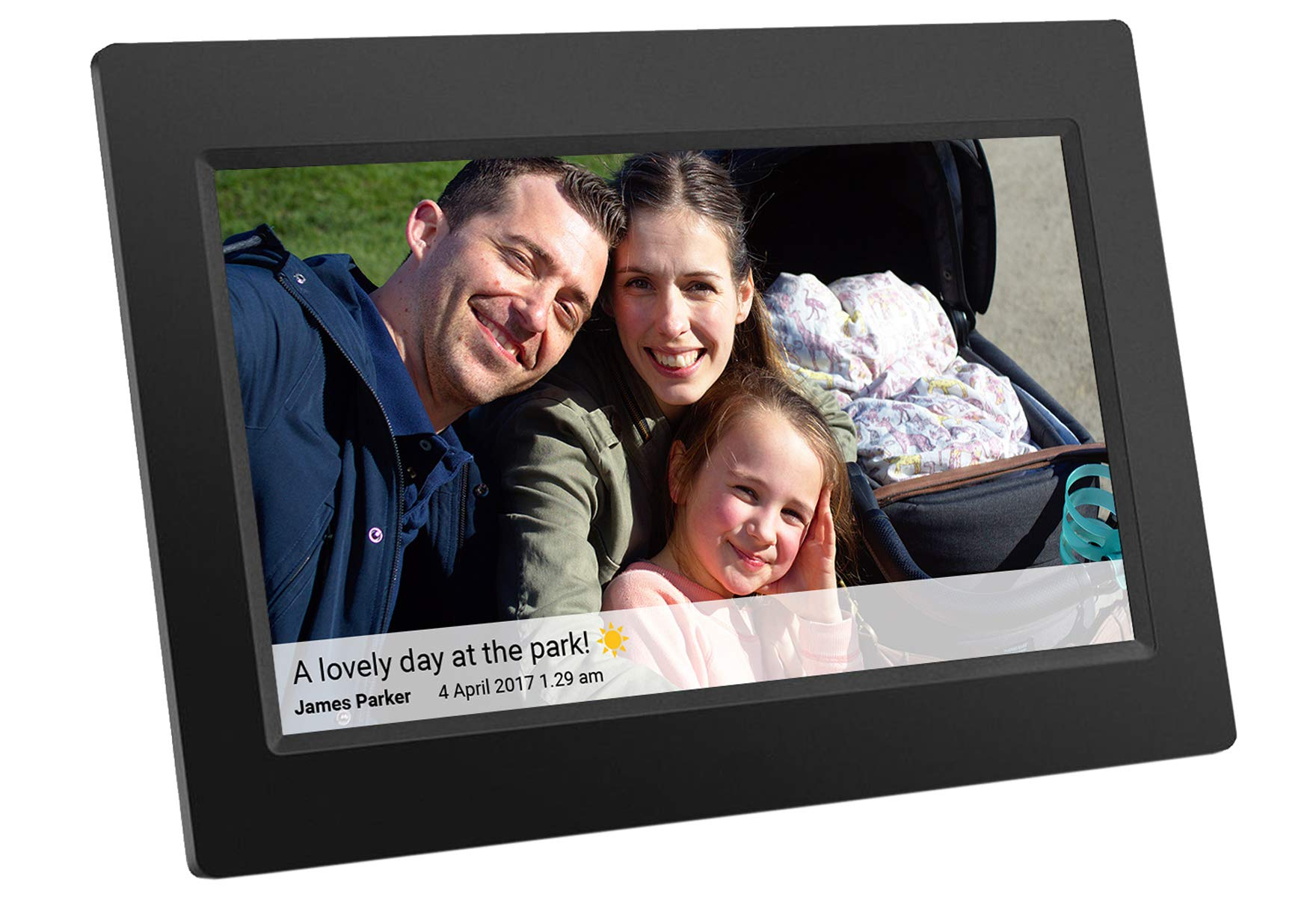 Feelcare 10 Inch 16GB Smart WiFi Digital Picture Frame with Touch Screen, 800x1280 IPS LCD Panel, Wall-Mountable, Portrait Landscape, Instantly Sharing Moments Anytime Anywhere(Black)