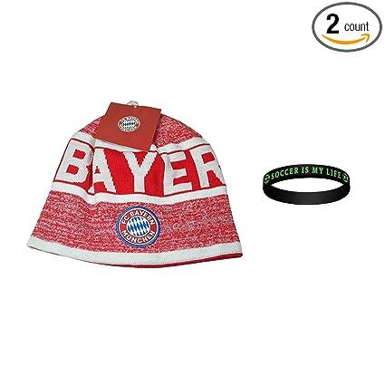 Amazon.com   FC Bayern Munich Set Beanie Skull Cap Hat + Silicone ... c28808c1708