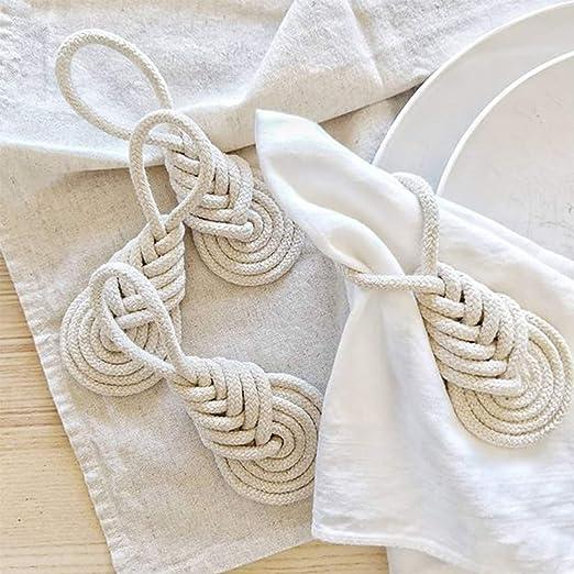 BohoEclecticShabby Table Setting 6 Solid Brass Napkin Rings Rectangular Cloth Napkin Holders