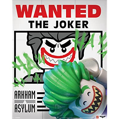 "Pyramid International"" Wanted The Joker Lego Batman Mini Poster, Plastic/Glass, Multi-Colour, 40 x 50 x 1.3 cm: Kitchen & Dining"