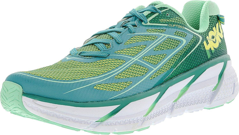 HOKA ONE CLIFTON 3 Zapatillas de running - Mujer..., Verde (Verde ...