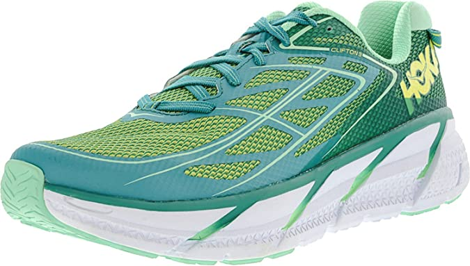 HOKA ONE CLIFTON 3 Zapatillas de running - Mujer..., Verde ...