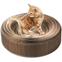 REFURBISHHOUSETragbarer Kratzer der Katze Salon zusammenklappbare Karton Kratzer Spielzeug Tafel vom Kratzen der Katze Katzen Turbo Spielzeug