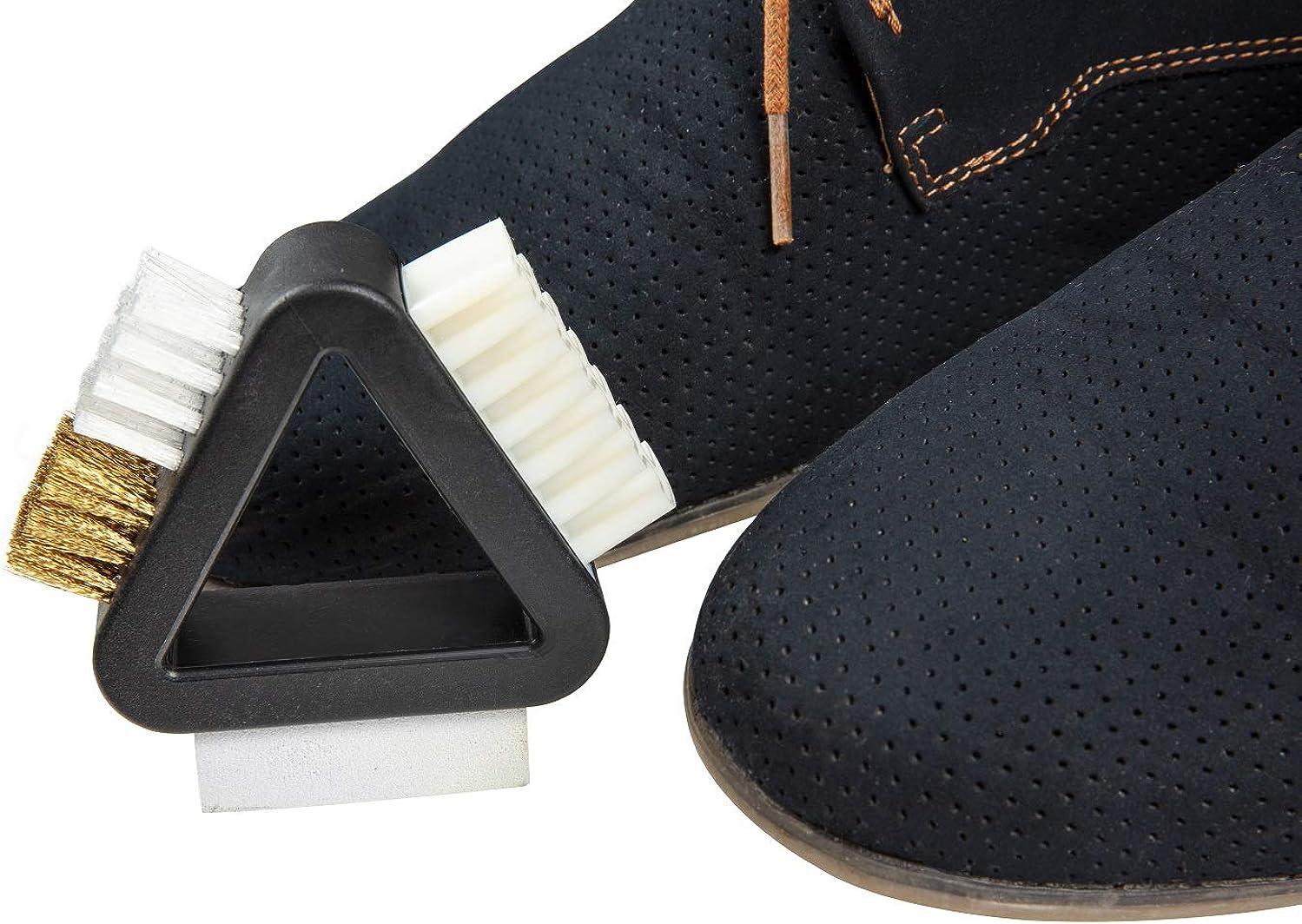 Kaps Kit 3 en 1 Brosse Multifonction pour Nettoyer Chaussures et Sacs en Daim
