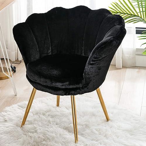 CIMOTA Living Room Chairs,Furry Makeup Vanity Chair
