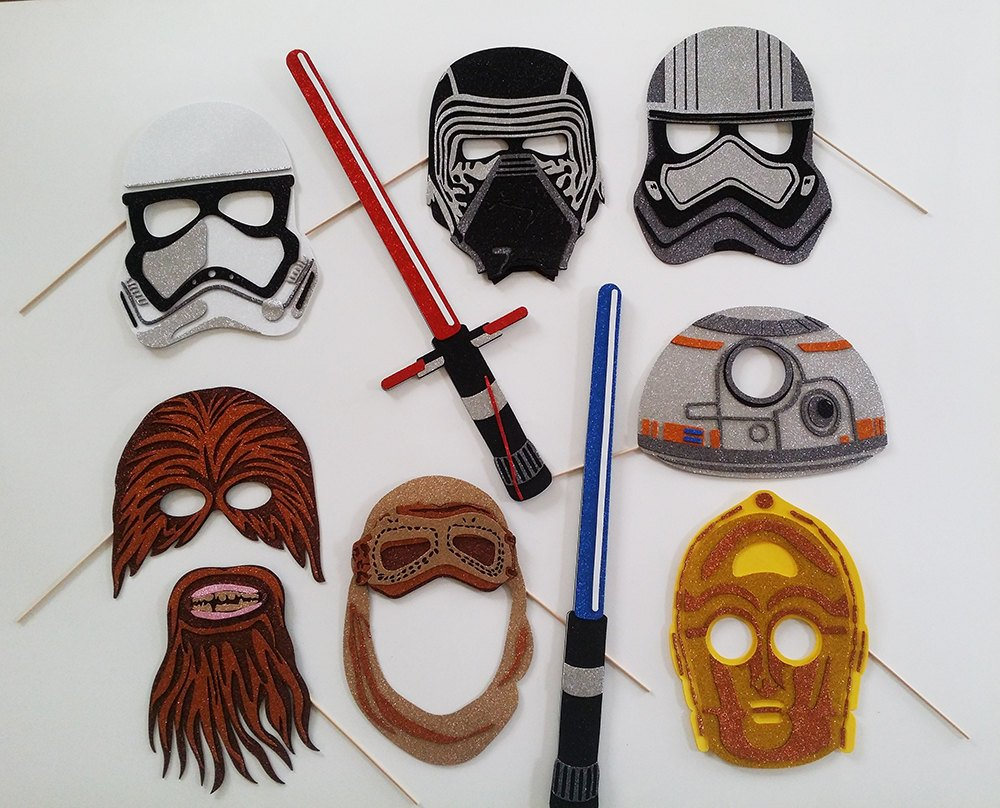 UNKNDW Galaxy movie VII masks Photo Booth Props Stormtroopers, Kylo Ren, Chewbacca