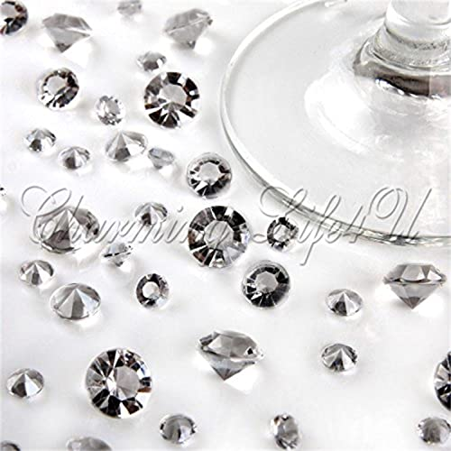 Wocharm (TM )5000pcs Brand new Mixed Sizes(2000/2.5mm+3000 /4.5mm)Wedding Table Diamonds Crystals Confetti 15 colors Available &UK First Class Mail (Clear)