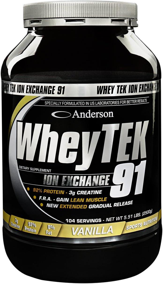 Anderson Whey Tek 91 FRAGOLA 800g proteine con creatina ...