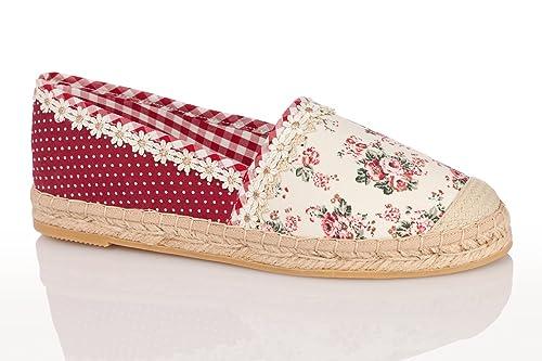 Krüger madl Trachten Mujer Alpargata - Marie - Color Rojo, color Rojo, talla 42: Amazon.es: Zapatos y complementos