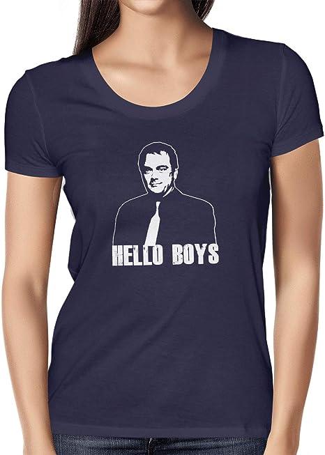 Texlab Crowley Hello Boys Camiseta, Mujer, Azul Marino, Small: Amazon.es: Deportes y aire libre