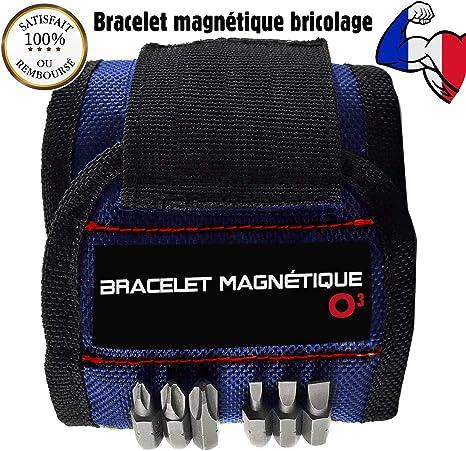 Bracelet Aimante Bricolage Gadget Utile pour Papa//P/ère//Femmes Bracelet Magnetique Homme Bricolage avec 15 Aimants Puissants pour Tenir les Outils Bracelet Magnetique Bricolage Cadeau Homme