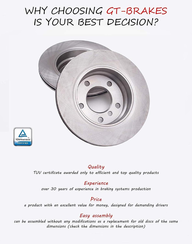 V-MAXZONE F0448 PROFESSIONAL ROTORS BRAKE DISCS /& PADS FRONT 325 MM