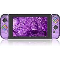 BASSTOP Set de carcasa de repuesto para consola Switch NS NX y control Switch Joy-con derecho/izquierdo sin electrónicos, hazlo tú mismo, Joycon-Atomic Purple