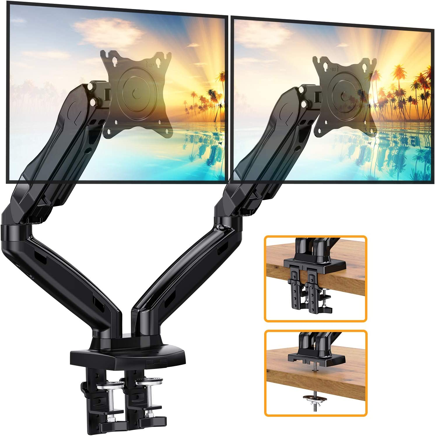 ErGear Dual Arm Monitor Desk Mount Stand