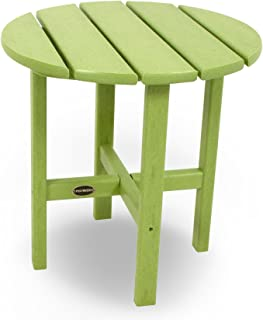 """product image for POLYWOOD RST18LI Round 18"""" Side Table, Lime"""
