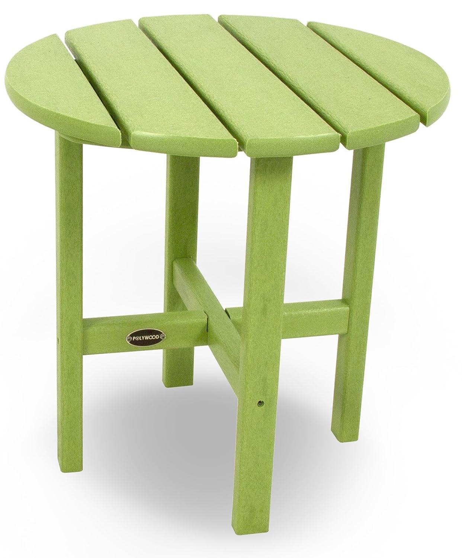 "POLYWOOD RST18LI Round 18"" Side Table, Lime"