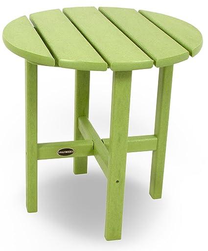 Amazoncom POLYWOOD RSTLI Round Side Table Lime Patio - Polywood coffee table