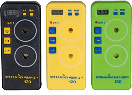 Screaming Meanie TZ-120 Alarm Timer – Extremely Loud – Travel Friendly – Multi-Purpose – 2 Sound Levels – Battery Not Included – Assorted Colors